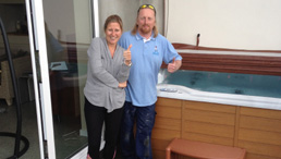 Another happy spa and pool services customer!